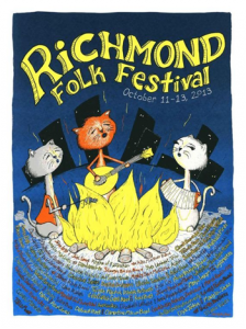 Richmond Folk Festival poster