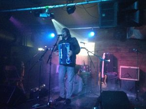 alex meixner doing a showcase set at the mash house in edinburgh scotland