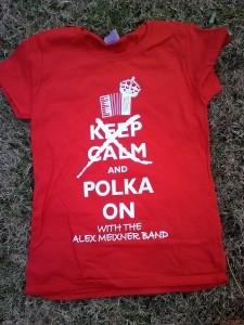 Keep Calm Polka On Shirt
