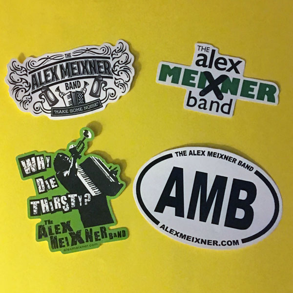 Alex Meixner Band Stickers 2017