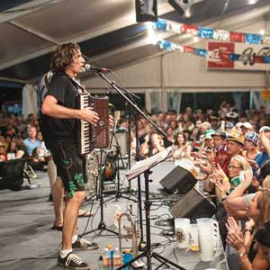 Alex Meixner at Wurstfest by Mikie Farias