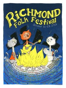 Richmond Folk Festival poster