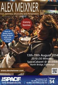Alex Meixner at the Edinburgh Fringe Fest