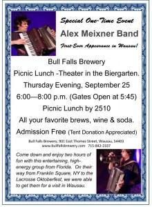 bull falls brewery flyer sept 25, 2014