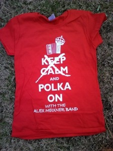 Keep Calm Polka On Shirt