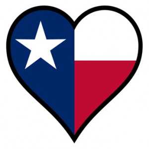 heart shaped texas