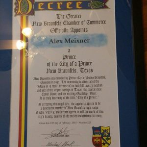 New Braunfels Prince Declaration