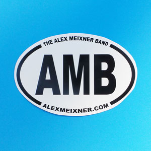 AMB Alex Meixner Band International Oval Sticker
