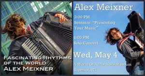 Allied Midwest Tour Continues - May 4 solo concert in Superior, WI