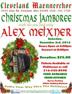Christmas Jamboree at the Cleveland Maennerchor with Alex Meixner