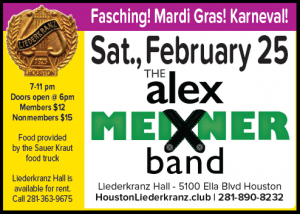 Houston Liederkranz Fasching Feb 25, 2017