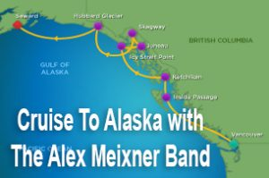 Alaska cruise route alex meixner band