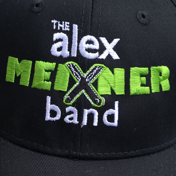 close up of Alex Meixner Band Baseball Cap