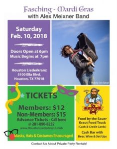 Houston Liederkranz Feb2018