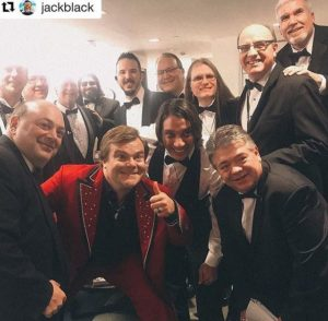 Jack Black Backstage at Colbert 2018