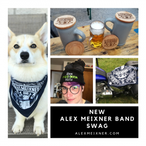 New Alex Meixner Band Swag