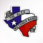 Texas State Sticker Alex Meixner Band
