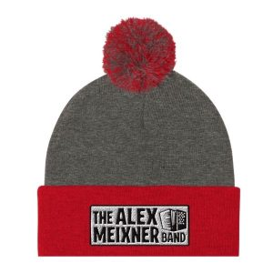 Red Grey Knit Amb Hat