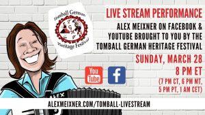 March 28 2021 Alex Meixner Tomball German Live Stream